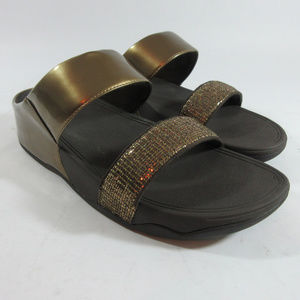 FitFlop Bronze Metallic Lulu Super Glitz Sandals